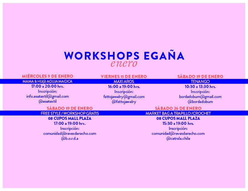 workshops mall plaza egaña