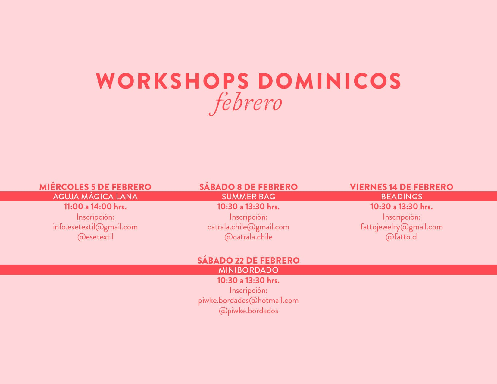 workshops los Dominicos