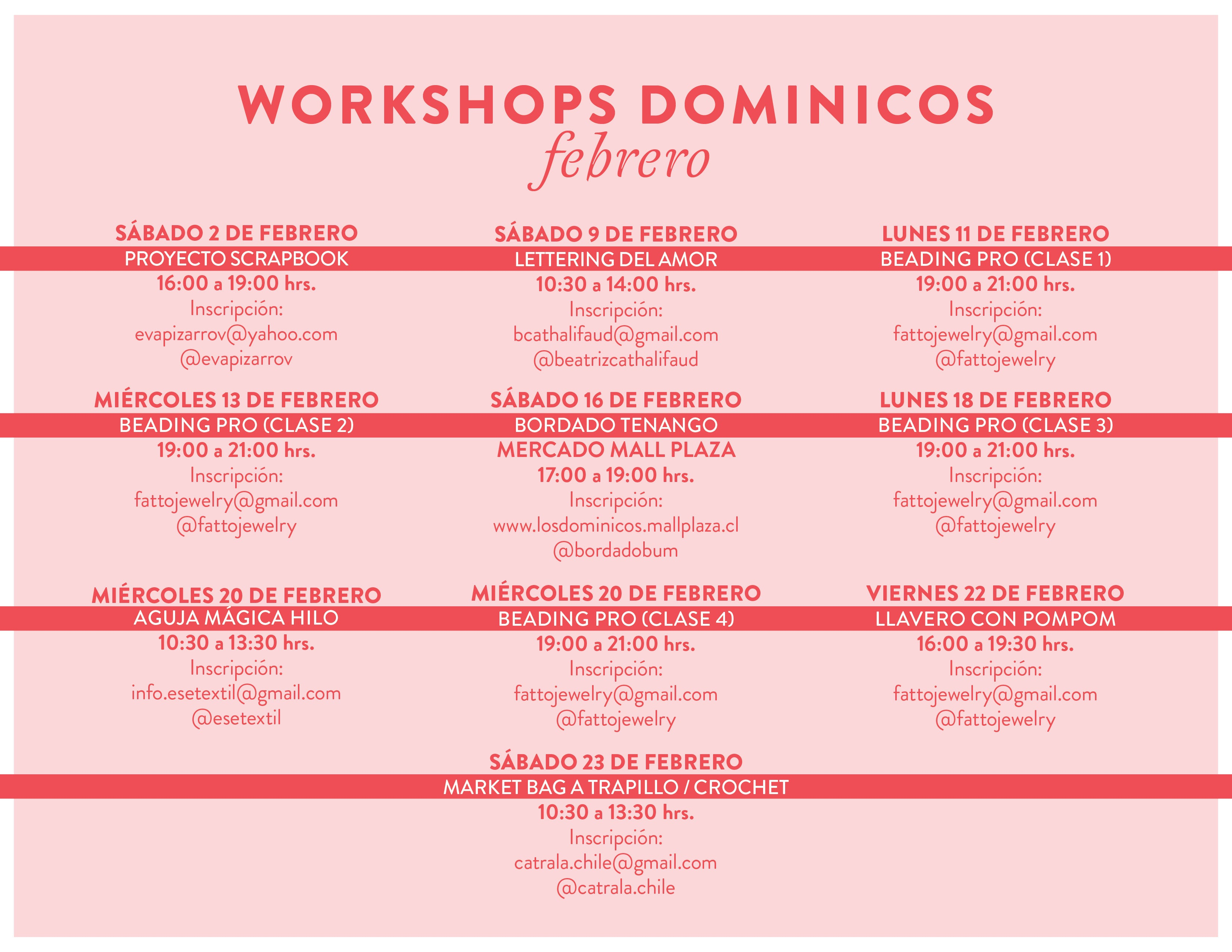 workshops mall plaza los dominicos