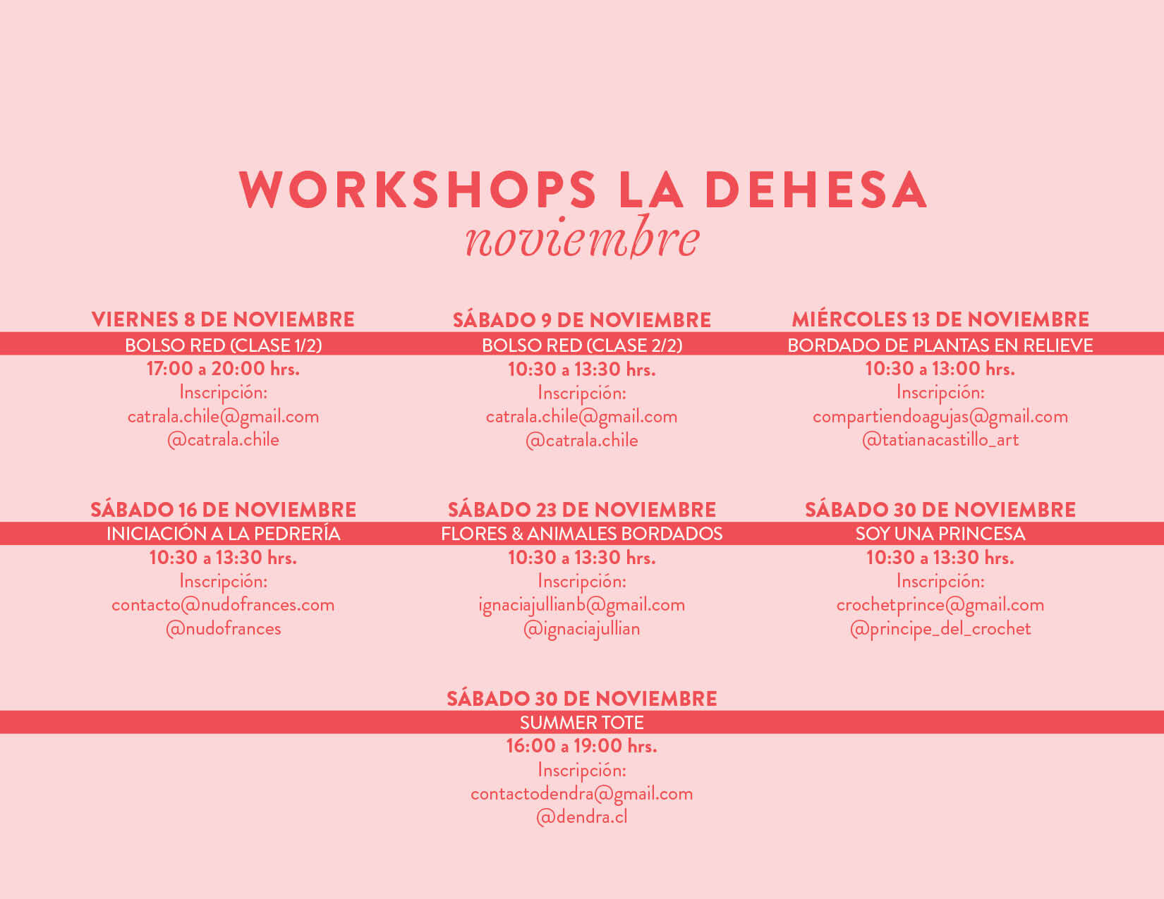 workshops portal la Dehesa