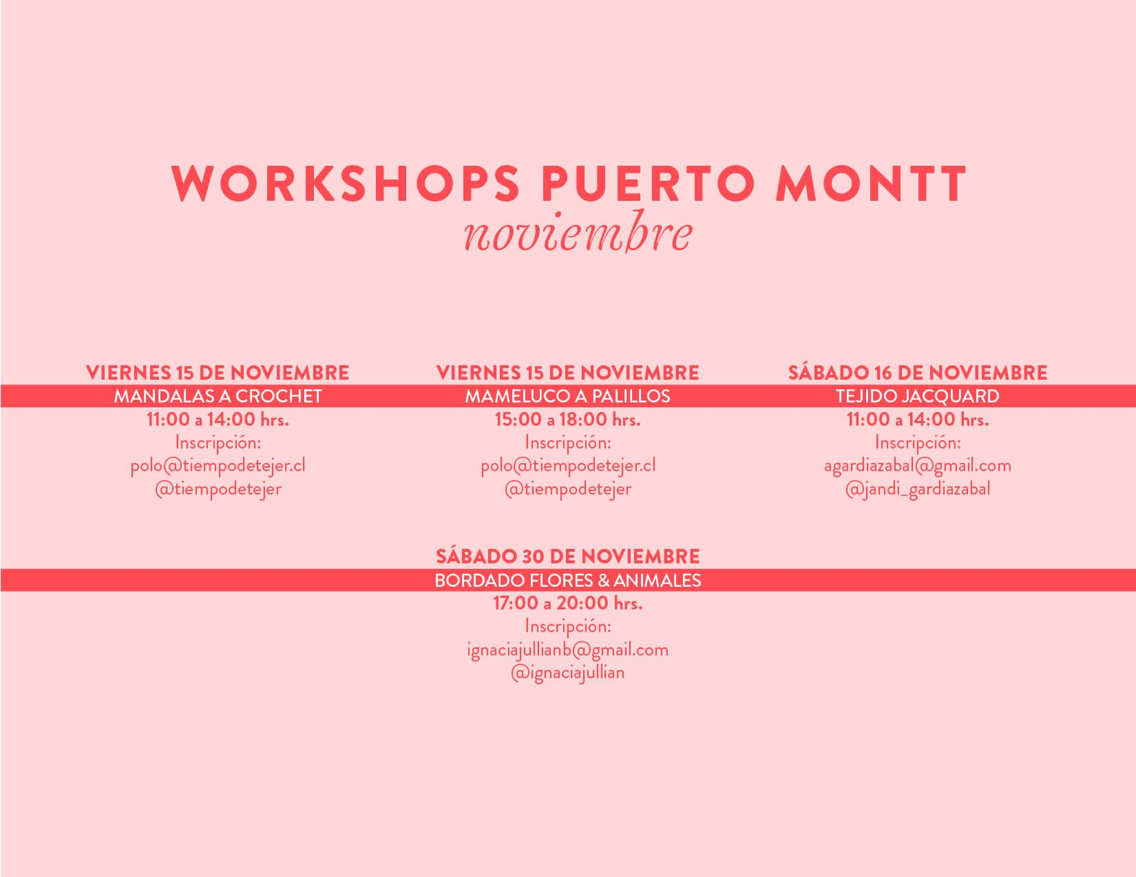 workshops puerto montt