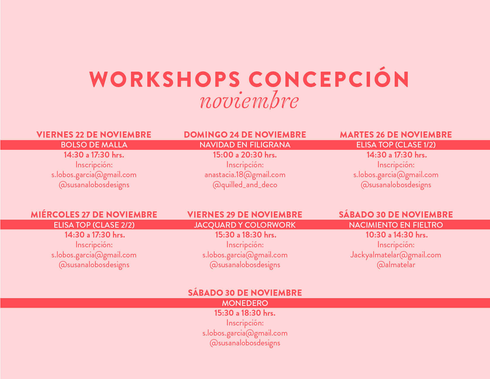 workshops concepcion