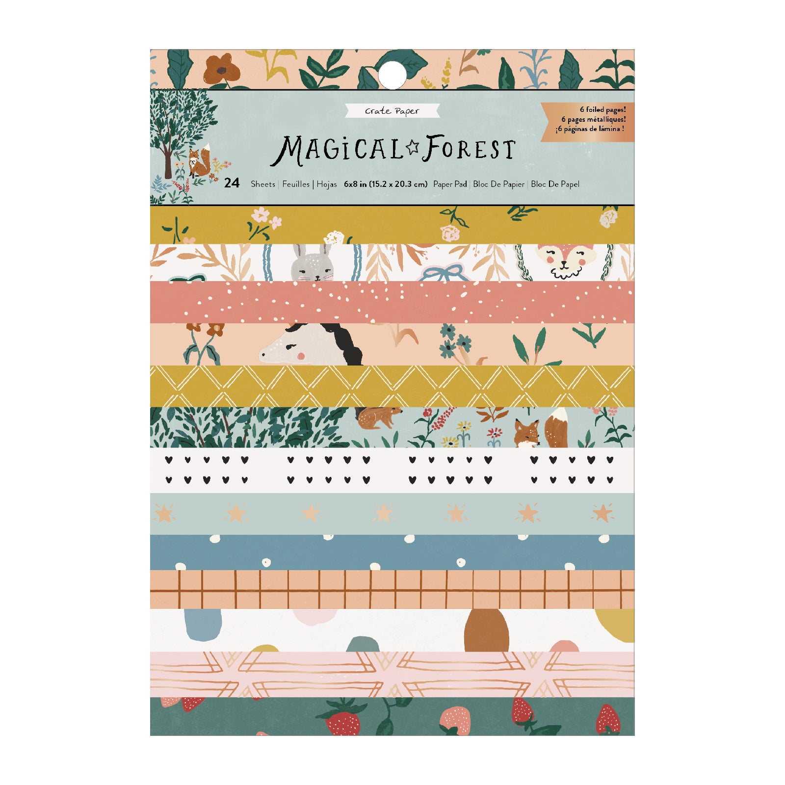 "CP PAPER PAD MAGICAL FOREST 6X8"" 24 UN 351007"