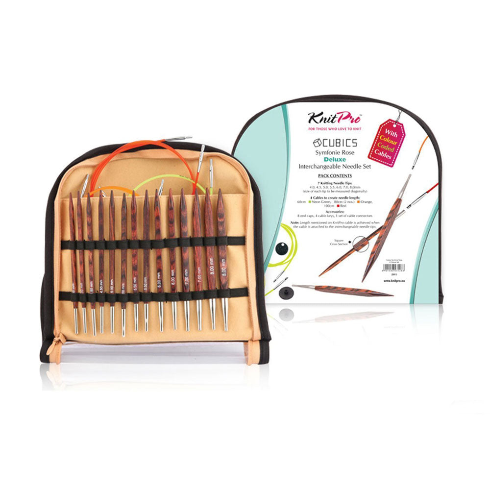 Set Palillos Intercambiables Cubics Deluxe Knit Pro