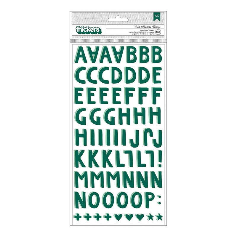Sticker letras verde Willow 133 un