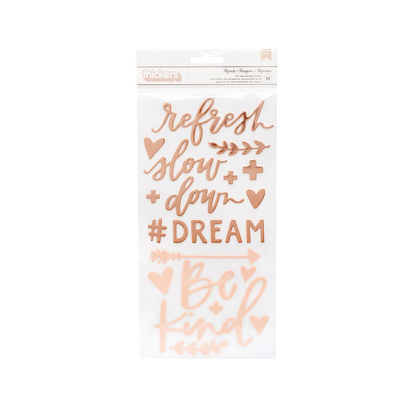 Sticker letras rose gold Willow 57 un