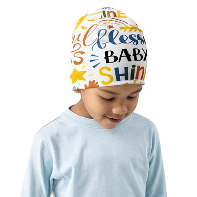 Blessed Baby Shine All-Over Print Kids Beanie - EnoughSaid