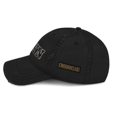 Brooklyn Distressed Dad Hat - sideview