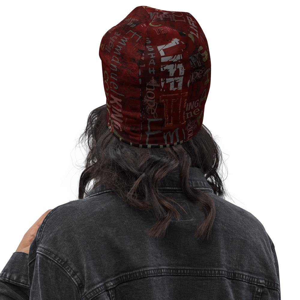 Jesus Inspirational All-Over Print Beanie -back view