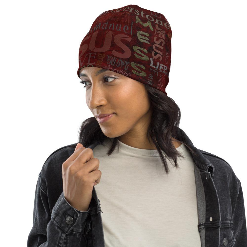 Jesus Inspirational All-Over Print Beanie - EnoughSaid