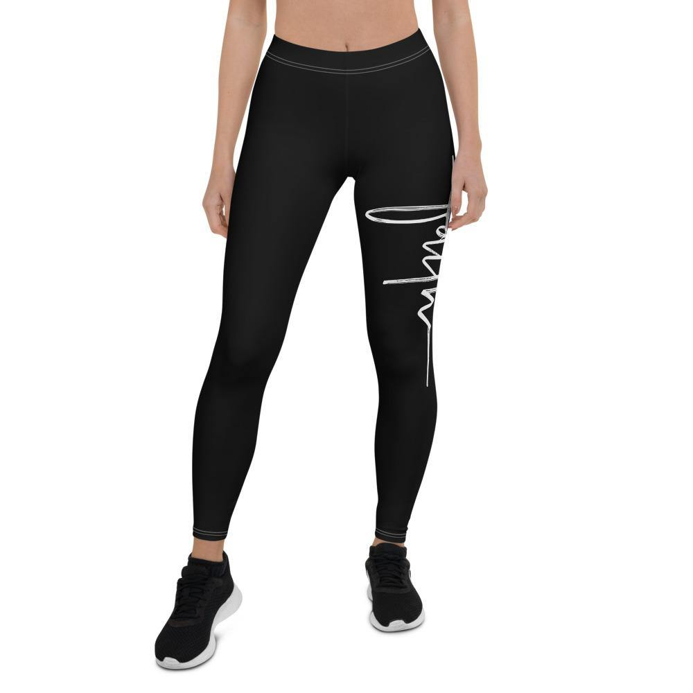Faith Capri Yoga Leggings Pants for Women - front view