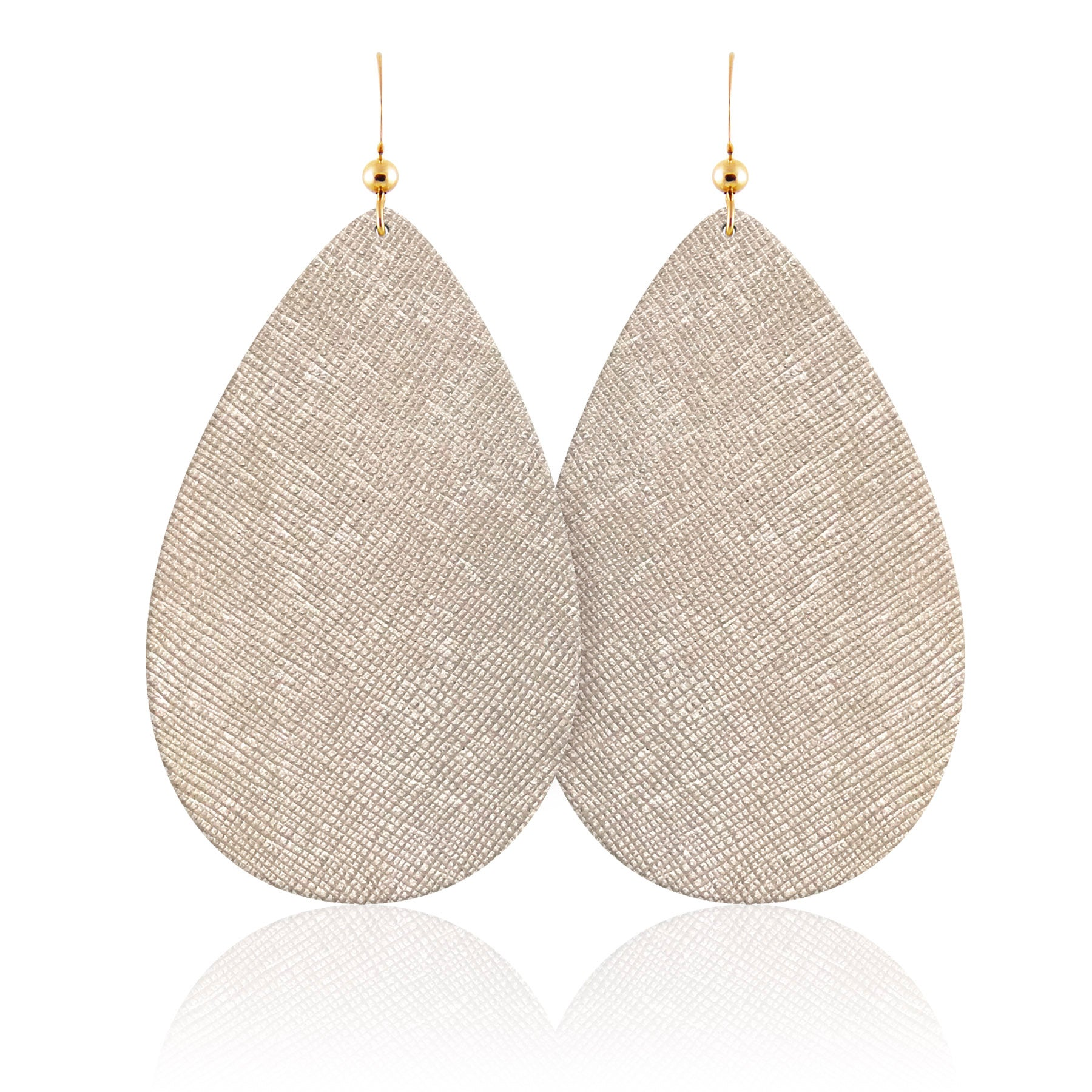 luster leather earrings