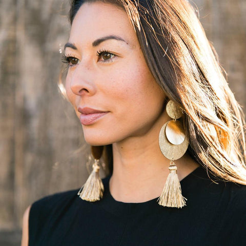 lightweight leather earrings laguna statement
