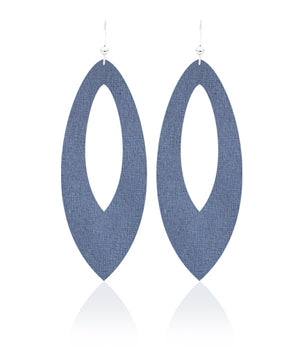Denim Daze Cutout Leather Earrings