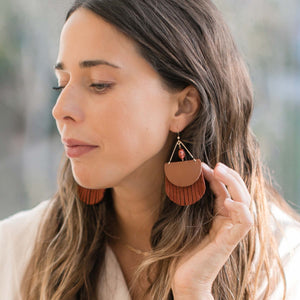 Thalia Gemstone Fringe in Rust