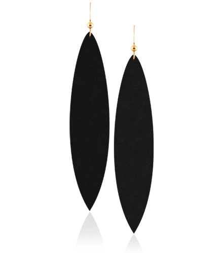 Midnight Leather Earrings