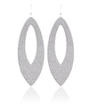 Quartz Cutout Leather Earrings