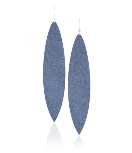 Denim Daze Leather Earrings