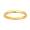 Gold Hammered Stackable Ring