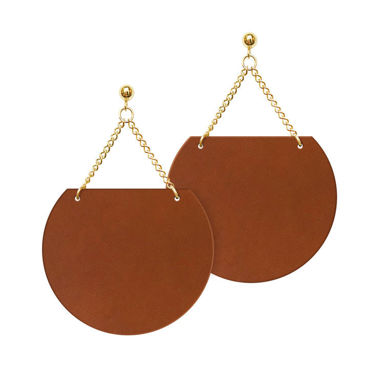 Adobe Sol Leather Earrings