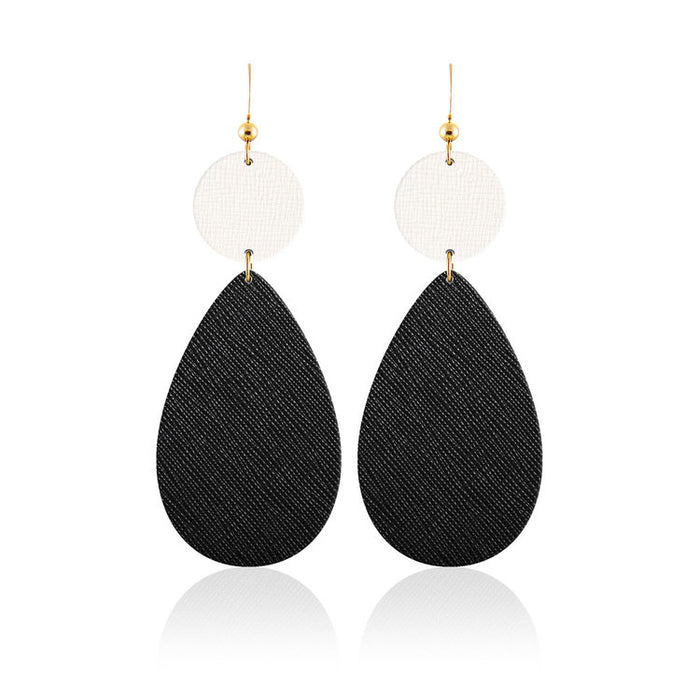 Bauble Teardrop Leather Earrings