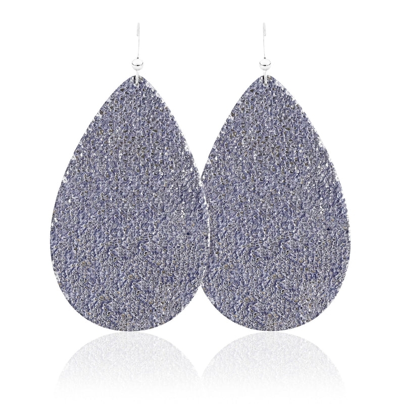 Twilight Teardrop Leather Earrings