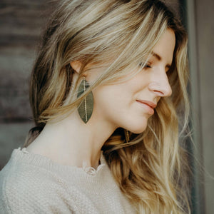 Leather Earrings with Free People
