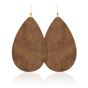 Desert Daughter Teardrop Leather Earrings