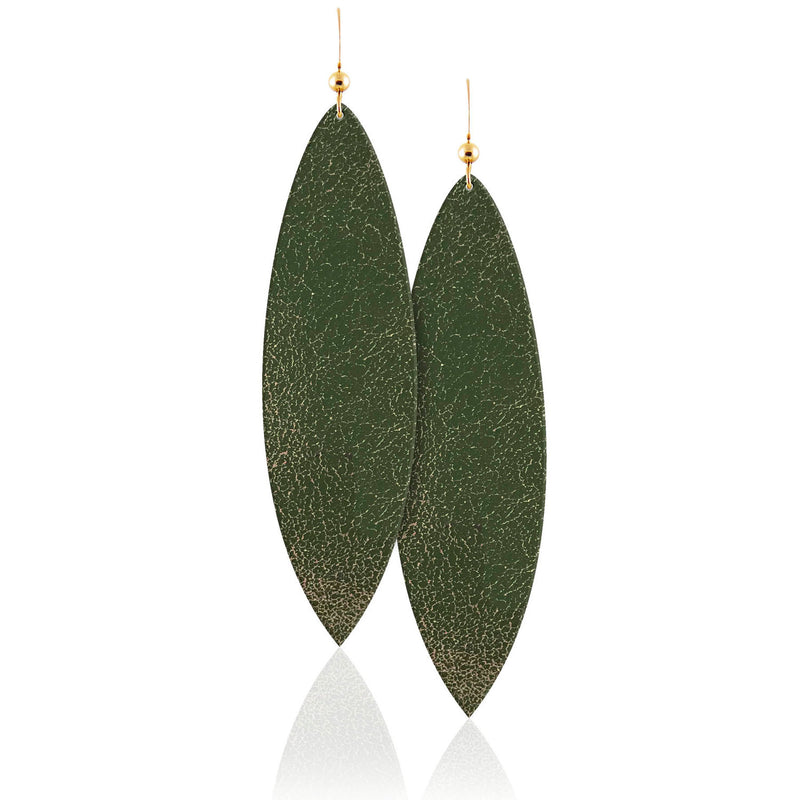 Forest Leather Earrings