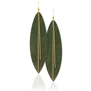 Forest Linked Leather Earrings
