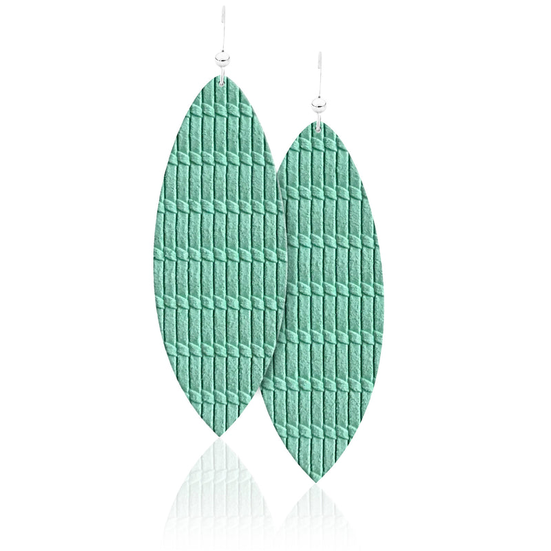 Lagoon Leather Earrings