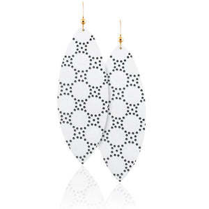 Honeycomb Leather Earrings