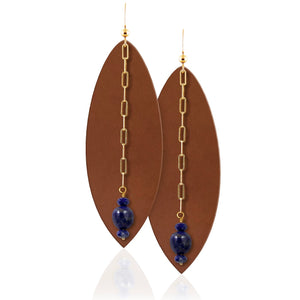 Lapis Karma Gemstone Earrings