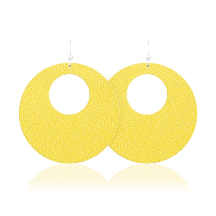 Limoncello Revolve Leather Earrings