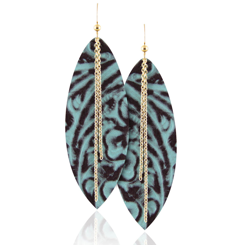 Mila Linked Leather Earrings