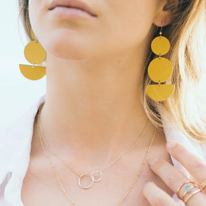 Mustard Yellow Statement Earrings
