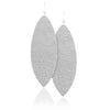 Soft Silver Leather Earrings