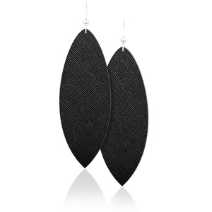 Raven Leather Earrings