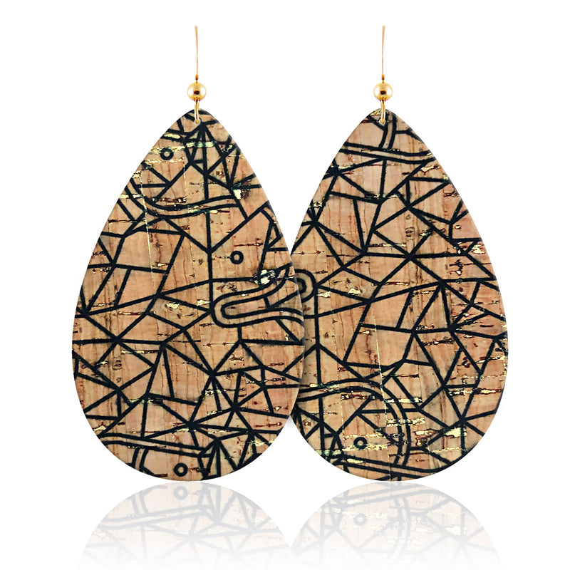 1984 Teardrop Leather Earrings