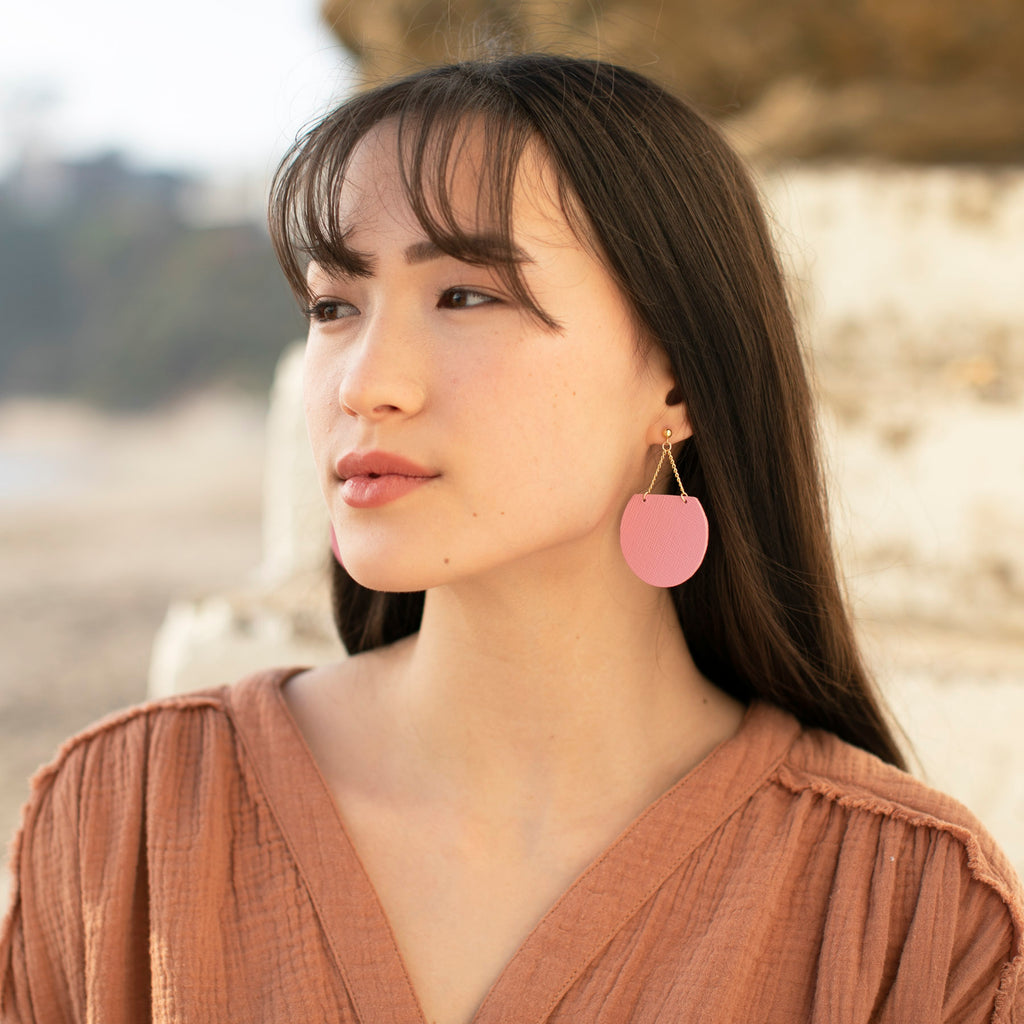 Laguna Beach Leather Earrings