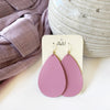 Bubble Gum Pink Leather Earrings