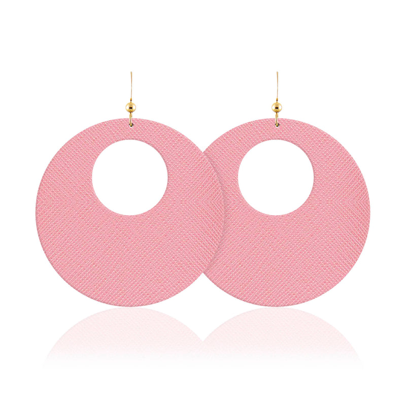 Peony Revolve Leather Earrings