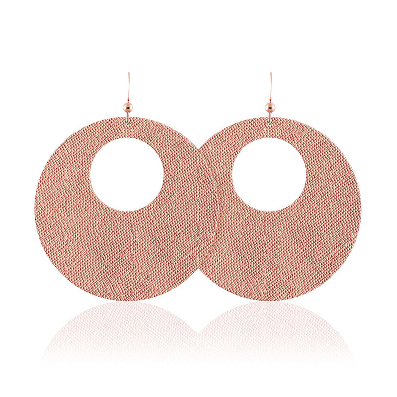 Rose Revolve Leather Earrings