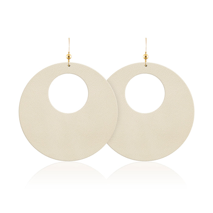 Sand Revolve Leather Earrings