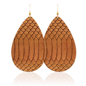 Phoenix Teardrop Leather Earrings