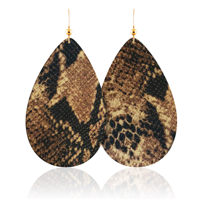 Shiloh Teardrop Leather Earrings