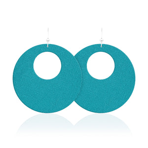 Turquoise Revolve Leather Earrings