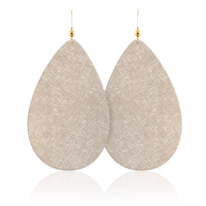Vanilla Luster Leather Earrings
