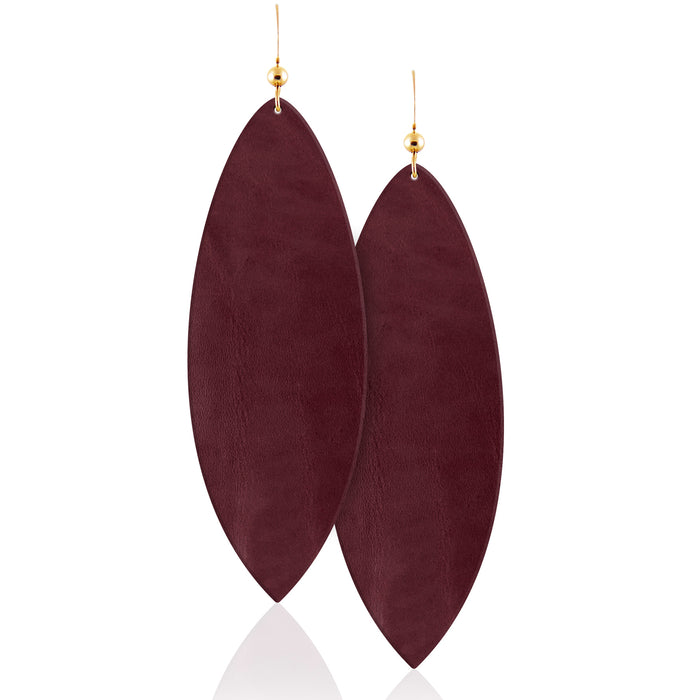 Bordeaux Leather Earrings