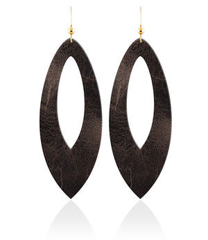 Vintage Cutout Leather Earrings